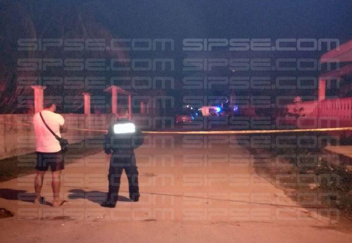 Autoridades determinaron que el hombre había sido herido en el rostro. (Enrique Castro/SIPSE)