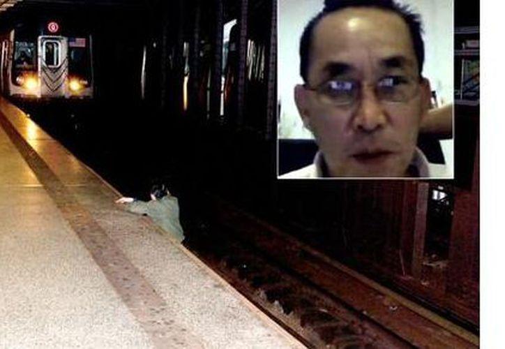 Umar Abbasi dijo que su intención no era tomar una foto del hombre en las vías. (publimetro.cl)
