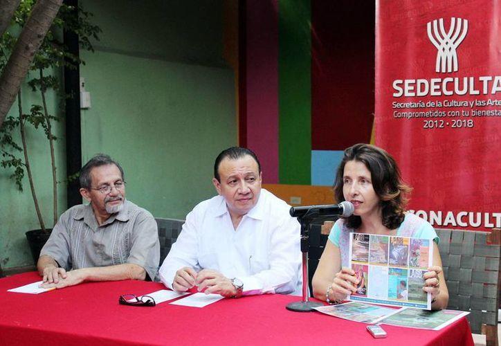 Imagen de la rueda de prensa para anunciar los talleres con apoyo del Gobierno del Estado en La 68. (Milenio Novedades).