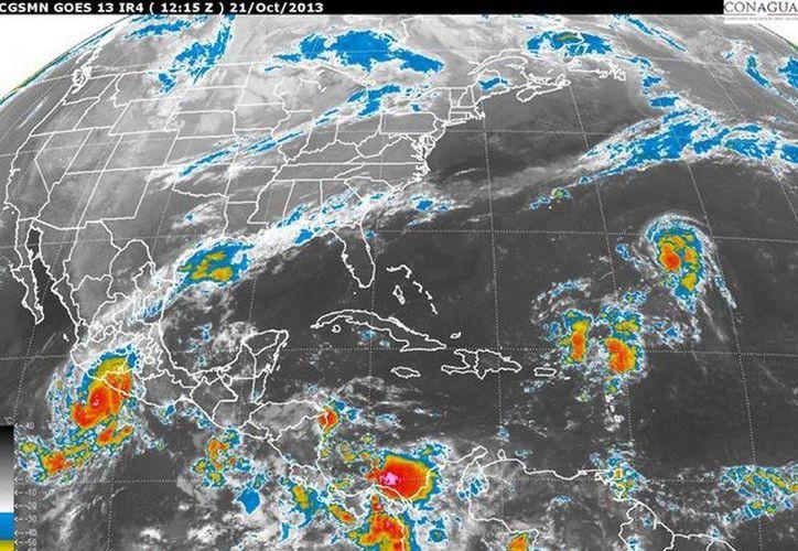 Por efectos de la tormenta tropical Raymond, se estableció una zona de alerta desde Acapulco, Guerrero, hasta Lázaro Cárdenas, Michoacán, informó el Servicio Meteorológico Nacional. (smn.conagua.gob.mx)