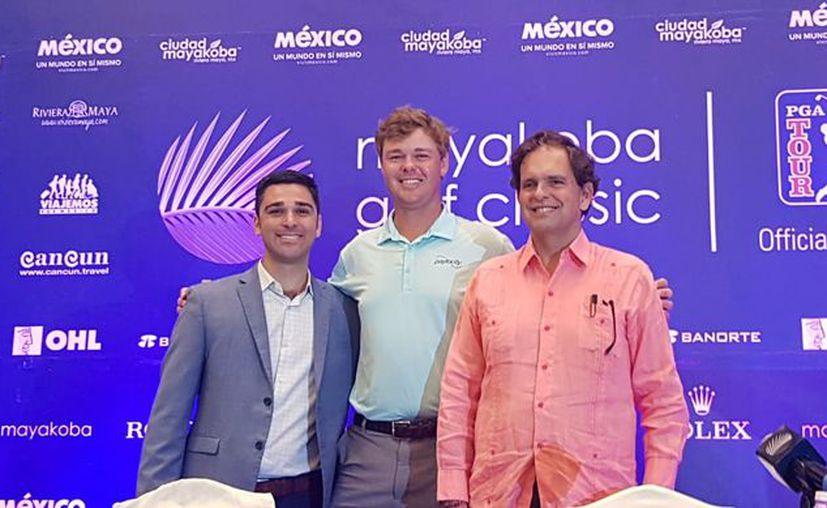 Joe Mazzeo, Patton Kizzire y Agustín Sarasola participaron en la presentación del evento. (Raúl Caballero/SIPSE)
