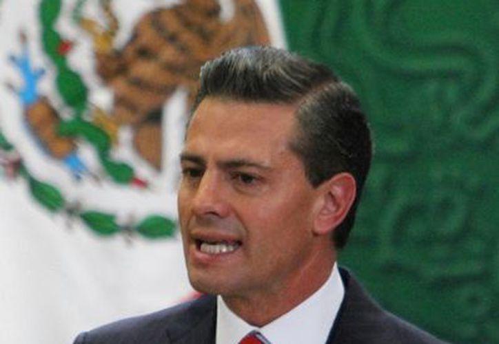 Peña Nieto indicó que la Canaco-Servytur es un importante motor para la economía nacional. (Notimex)