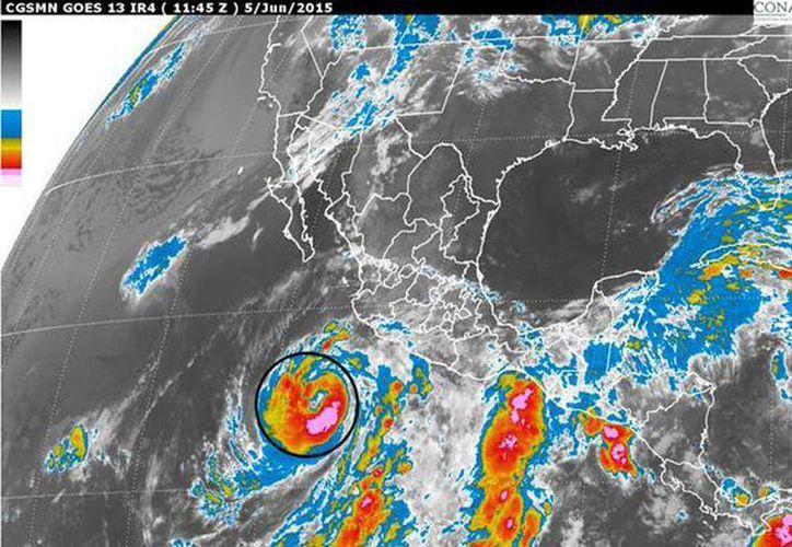 'Blanca' se debilita y llega a Baja California Sur como tormenta o depresión tropical. Su movimiento es muy errático. (Twitter: @conagua_clima)