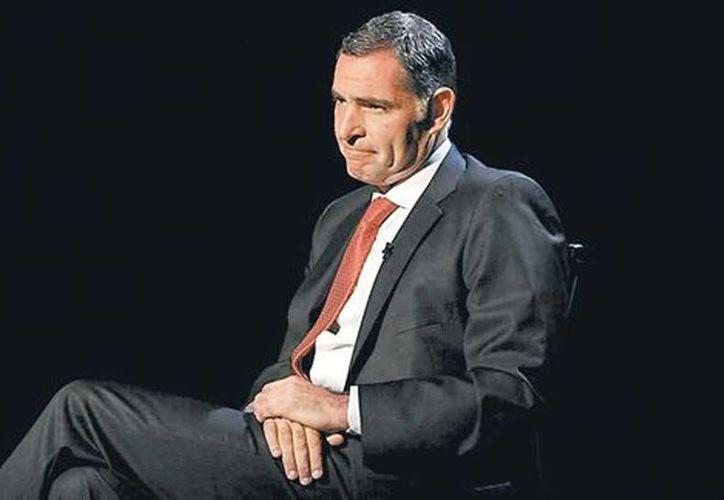 Gabino Cué, gobernador de Oaxaca, fue entrevistado por Carlos Puig en MILENIO Televisión. (Héctor Téllez/Milenio)
