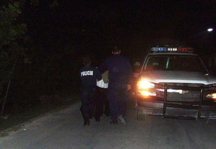 El joven fue trasladado a la Dirección Seguridad Pública y después fue puesto a disposición del DIF municipal. (Rossy López/SIPSE)