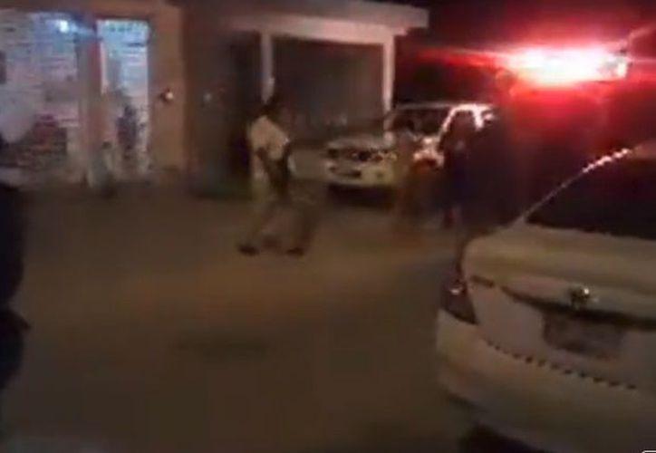 Los hechos ocurrieron en las calles Hacienda Chimay con Hacienda La Ventilla, en Haciendas Real del Caribe. (Captura de pantalla)
