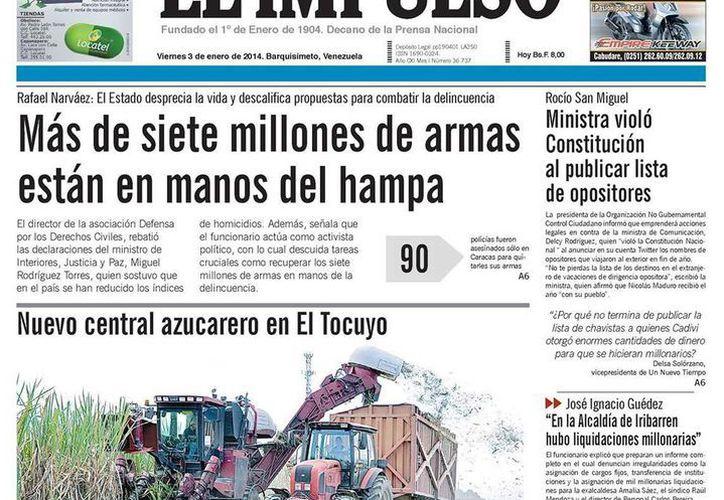 """El diario, que se publica en Barquisimeto asegura que existe un """"trato discriminatorio, por tanto ilegal, relacionado, no cabe duda, con la línea editorial"""". (Facebook)"""