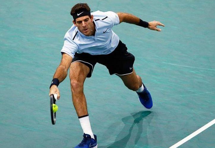 El argentino Juan Martín Del Potro quedó eliminado del Masters 1000 de París. (AP).
