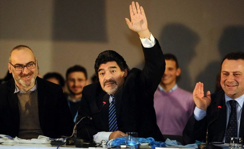 El exfutbolista argentino Diego Armando Maradona. (EFE/Archivo)