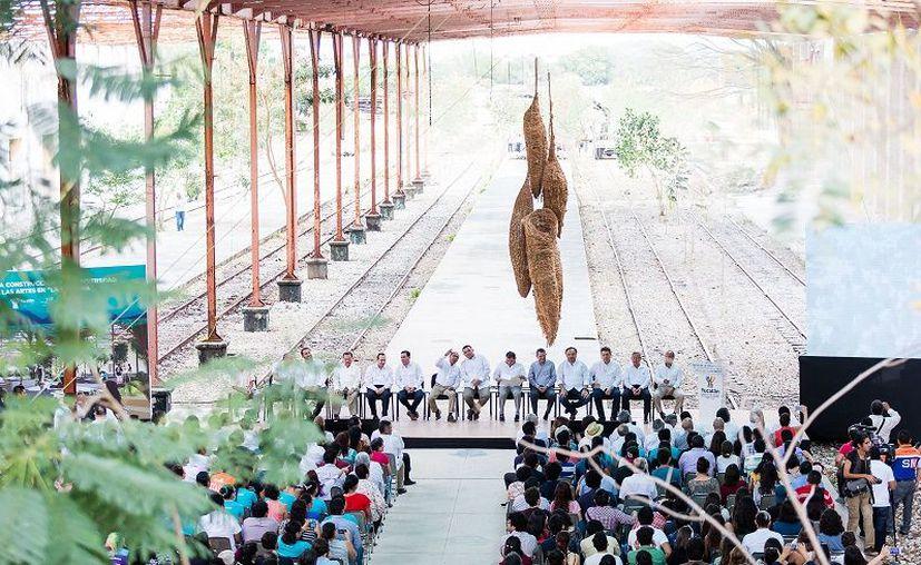 De ser una estación que albergaba grandes máquinas ferroviarias, ahora será el recinto donde se impartirán clases para formar a profesionales en las artes. (Foto: Milenio Novedades)