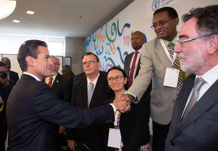 Peña Nieto asistió a la inauguración de la XXXIV Conferencia Regional de la FAO para América Latina y el Caribe. (Presidencia)