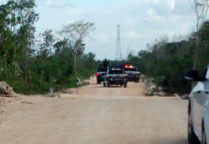 Elementos policiales acudieron a verificar el hecho en la colonia La Libertad. (Redacción/SIPSE)