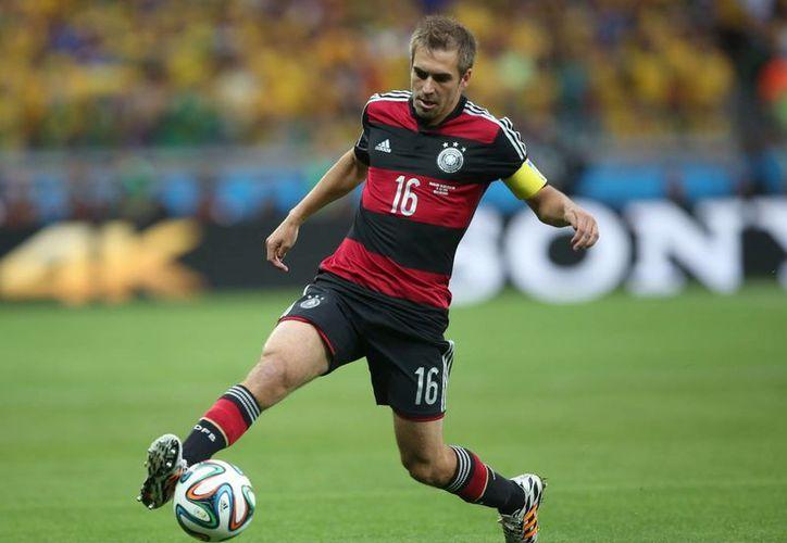 Philipp Lahm se retira de la Selección de Alemania menos de una semana después de haber ganador el Mundial por primera vez en su carrera. (EFE)