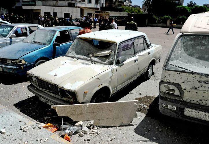 Imagen de lo daños provocados por los ataques registrados en Siria. (Agencias)