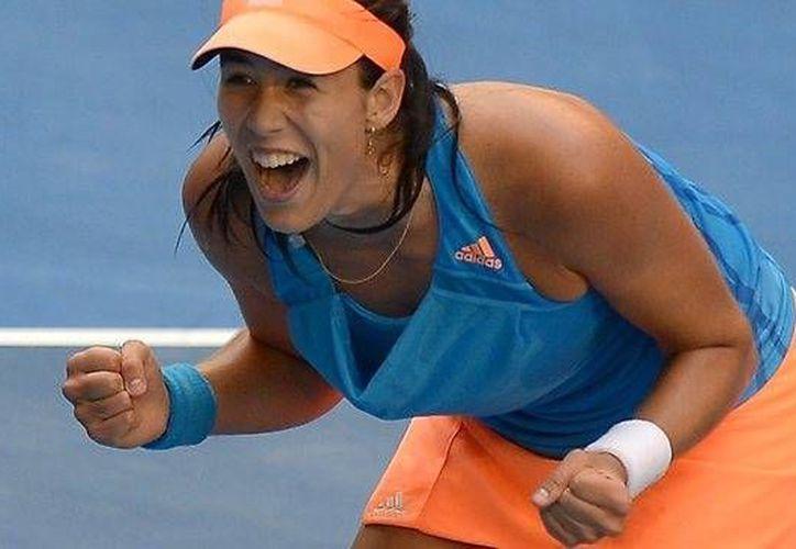 Garbiñe Muguruza es una joven tenista en ascenso, que está cerca de semifinales en el Torneo de Campeonas de la WTA. (elvenezolanonews.com)
