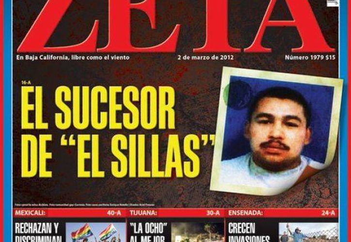 """Número del semanario """"Zeta"""" correspondiente a marzo de 2012. (www.elpopular.mx)"""