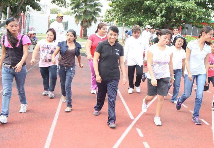 Realizaron las primeras pruebas de atletismo con niños y jóvenes. (Cortesía/SIPSE)