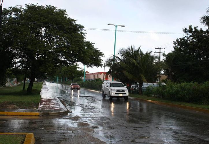 Las precipitaciones pluviales dejaron mínimas afectaciones. (Paloma Wong/SIPSE)