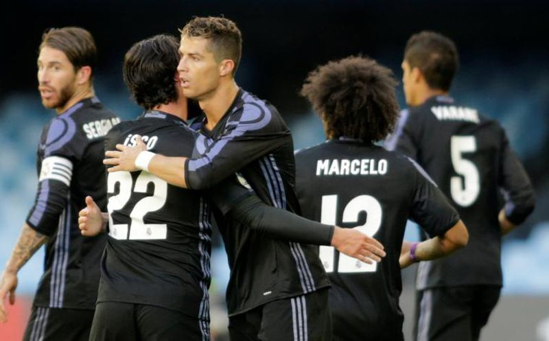 Doblete de CR7 y Real Madrid gana 2-1 a Celta