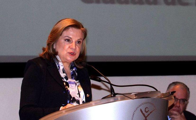 La titular de la Secretaría de la Función Pública (SFP), Arely Gómez González, hará un llamado a los contralores de todo el país para cerrar filas al implementar el Sistema Nacional Anticorrupción. (Archivo/Notimex)