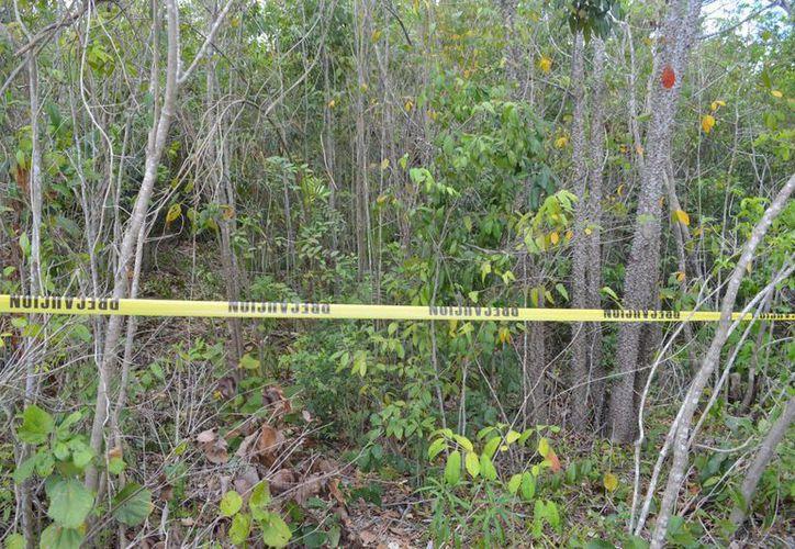 El cuerpo fue localizado en un área verde. (Redacción/SIPSE)