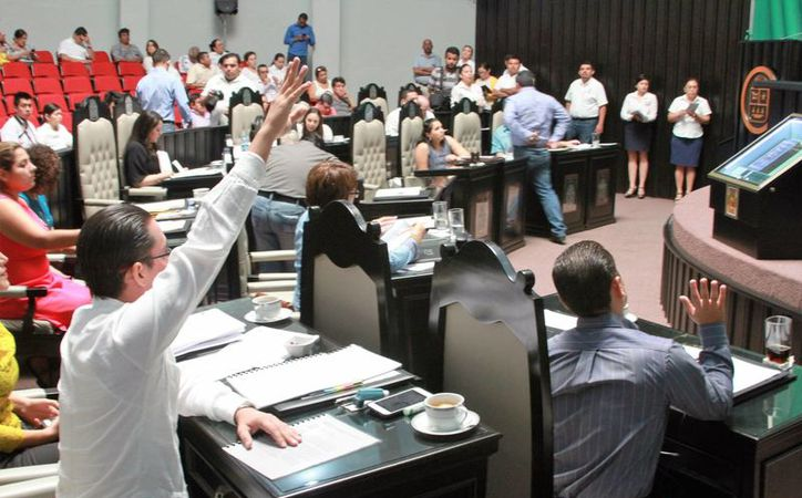 Se aprobaron por unanimidad en el Congreso del Estado las reformas que afectan al Tribunal Superior de Justicia del Estado. (Carlos Horta/SIPSE)