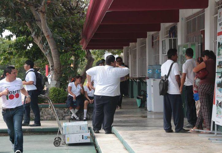 Estudiantes presentan algún grado de sobrepeso. (Julián Miranda/SIPSE)