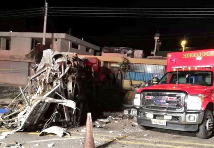 Los accidentes de tránsito figuran entre las principales causas de muerte en Ecuador. (Twitter)