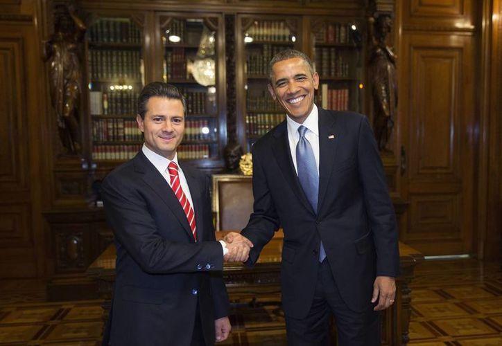 Los presidentes de EU y México tendrán una reunión bilateral de una hora donde participan las comitivas ampliadas. (Foto de Archivo Agencias)