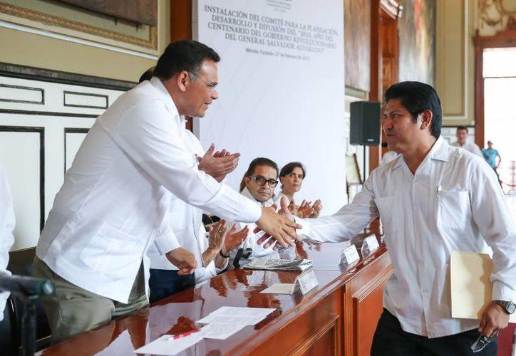 El gobernador Rolando Zapata Bello encabezó la instalación del Comité para la Planeación, Desarrollo y Difusión del '2015, año del centenario del gobierno revolucionario del general Salvador Alvarado'. (SIPSE)