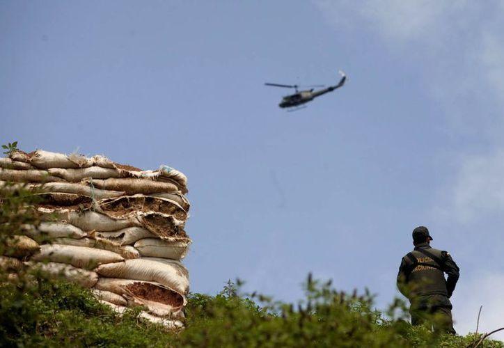 La milicia colombiana también decomisó municiones y documentos al grupo de guerrilleros del Ejército de Liberación Nacional. (EFE)