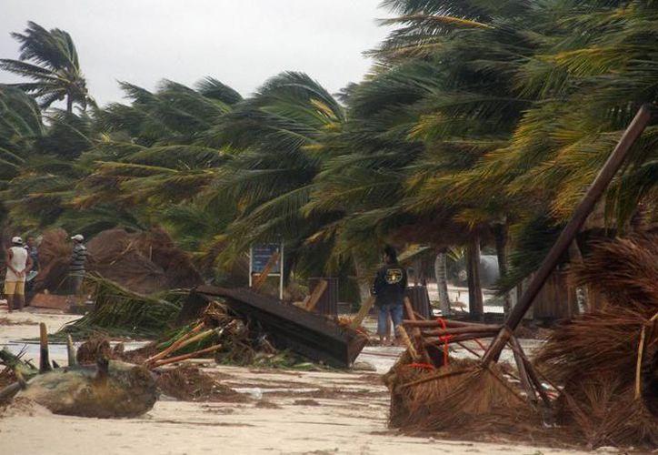 Las rachas de viento superaron los 80 kilómetros por hora, en el Puerto de Progreso y en diversas partes del Estado. (SIPSE)