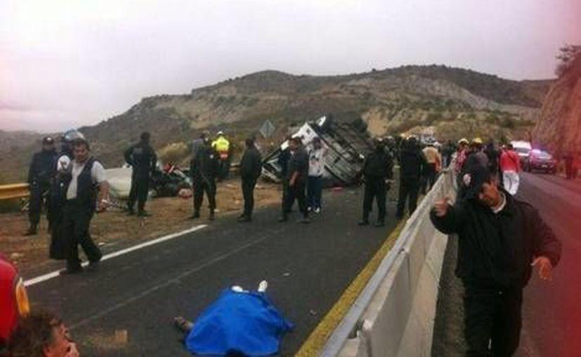 El accidente ocurrió en una zona montañosa del estado de Hidalgo. (Milenio.com)