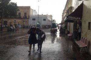Azota tormenta a Mérida
