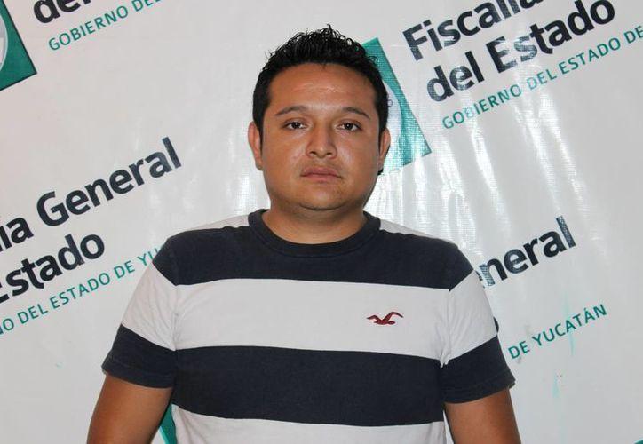 Christian de Jesús Sosa Ortiz fue detenido en el estacionamiento de un supermercado de Pensiones. (SIPSE)