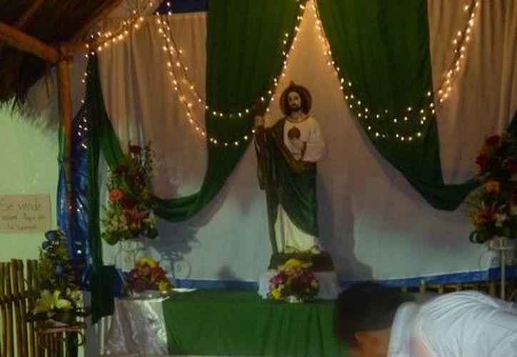 Las actividades se realizan en honor a San Judas Tadeo. (Raúl Balam/SIPSE)