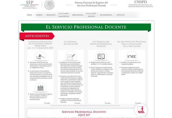 Los contenidos se pueden checar en el sitio web de la SEP. (servicioprofesionaldocente.sep.gob.mx)