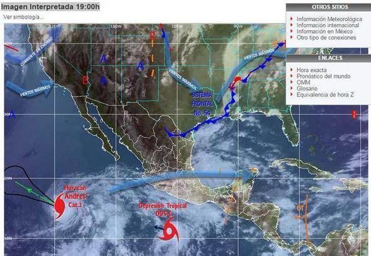 Dos fenómenos meteorológicos afectan las costas del Pacífico mexicano. (Conagua)