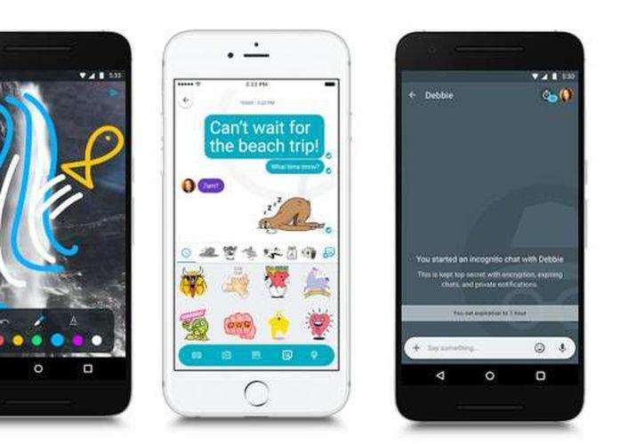Google Allo fue lanzado en 2016 para competir con otras aplicaciones de mensajería instantánea como Facebook Messenger, Instagram, Snapchat y WhatsApp. (Google).