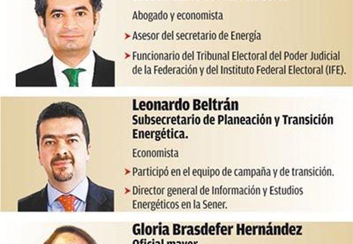Funcionarios que acompañarán a Pedro Joaquín Coldwell. (Milenio)