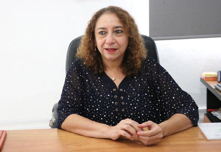La titular de la Secretaría de las Mujeres, María Herrera Páramo, relató que fue durante su educación media superior que tuvo claro que defendería los derechos de los pobres. (Foto: Daniel Sandoval)