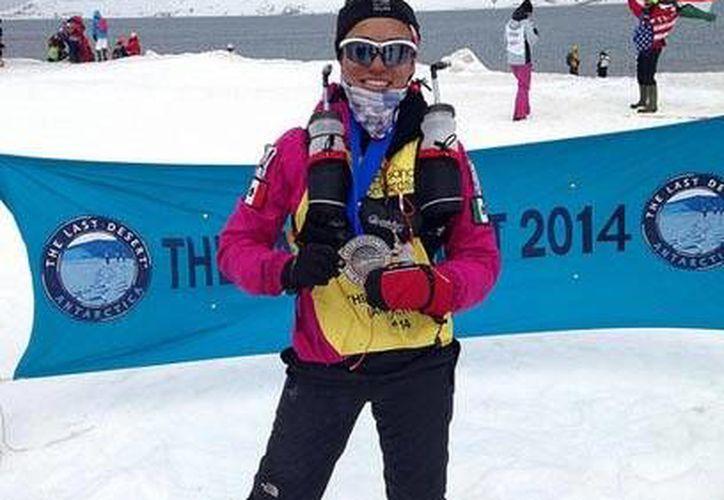 Isis Breiter ganó la carrera 'The Last Desert' en la Antártida hace un par de días. (Cortesía/Flicker)