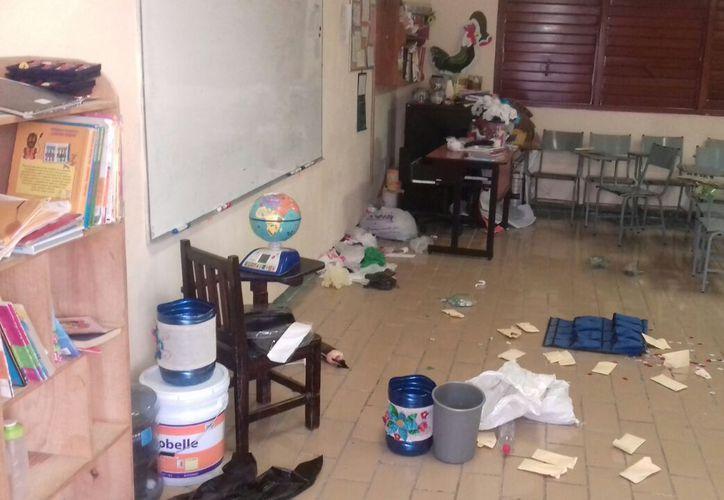 El robo ocurrió a pocos días de que se termine el ciclo escolar. (Foto: Daniel Pacheco)