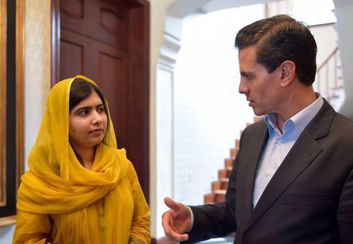 Fue un honor recibirla en el país y afirmó que en México, como en el mundo, su voz se escucha fuerte: Peña Nieto. (Excelsior)