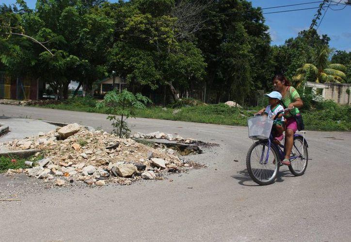Según los habitantes de la zona, han realizado el reporte constantemente a las autoridades. (Carlos Horta/ SIPSE)