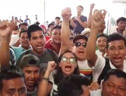 Se registra manifestación durante el cierre de casillas en Playa