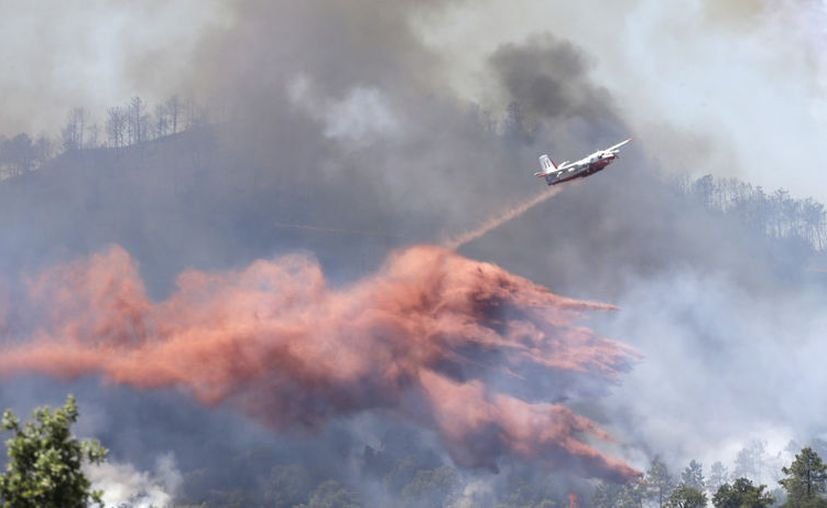 Dos adolescentes están bajo custodia policial por la sospecha de que provocaron un incendio forestal en Francia. (AP).