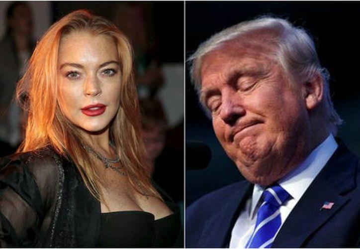 Lindsay Lohan respondió a un tuit en el que una usuaria compartió una noticia en la que se informa que Trump ayudará a buscar tratamientos. (Milenio).