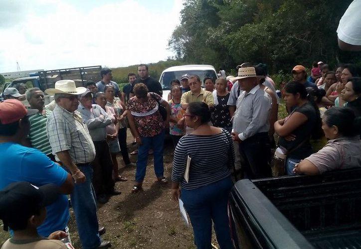 Son 165 ejidatarios dueños del terreno ubicado a espaldas de la Universidad Politécnica de Bacalar. (Javier Ortiz/SIPSE)
