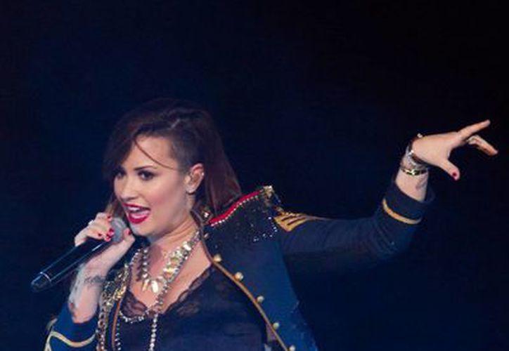Demi Lovato se presentó anoche en Arena Monterrey. (Notimex)